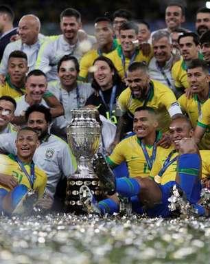 Brasil venceu todas as edições da Copa América no País