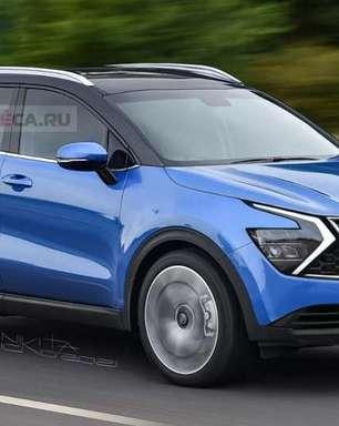 Novo Kia Sportage será revelado dia 8 com visual ousado