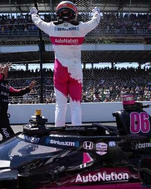 """Castroneves revela ligação de Roger Penske após Indy 500: """"Ele está muito contente"""""""