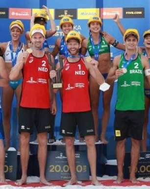 Bárbara Seixas/Carol Solberg e André Stein/George conquistam bronze em Ostrava