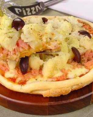 Pizza de couve-flor para fazer em casa