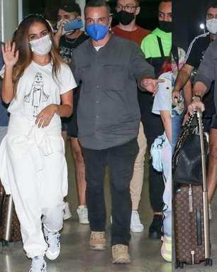 Após curtir o final de semana no país, Anitta deixa o Brasil