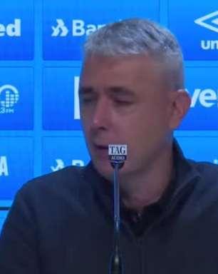 """GRÊMIO: Tiago Nunes após décimo quarto jogo sob comando do time: """"não posso avaliar em que estágio estamos"""""""
