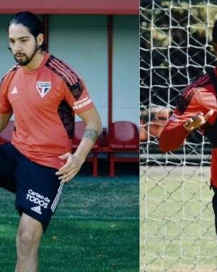 Benítez treina com bola e inicia etapa final de recuperação no São Paulo; Luan segue com trabalho físico