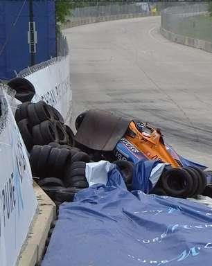 Rosenqvist recebe alta do hospital após acidente na Indy