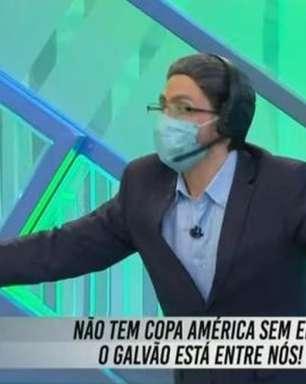 SBT usa Galvão 'fake' para tirar sarro da Globo por direitos televisivos: 'Não tem Copa América sem ele'