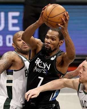 Com Harden em quadra, Durant brilha e Nets faz 3 a 2 no Bucks
