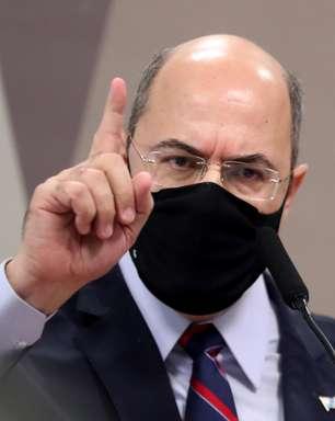 Witzel e Flávio Bolsonaro batem boca durante depoimento