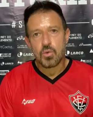 VITÓRIA: Ramon cita 'começo de trabalho' para justificar mau começo na Série B e pede tempo para mostrar resultado