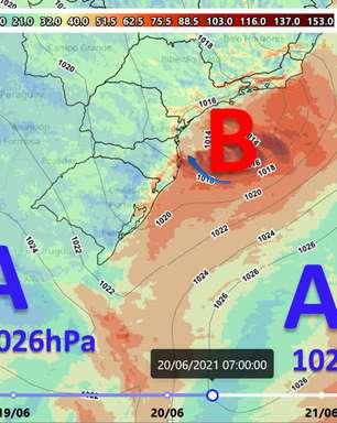 Ciclone influencia o Sul e o Sudeste