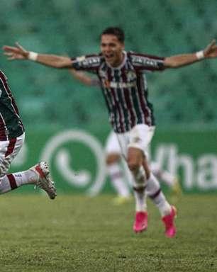 Nenê marca gol da vitória do Fluminense e comenta resultado em centésimo jogo pelo clube: 'É uma honra muito grande'