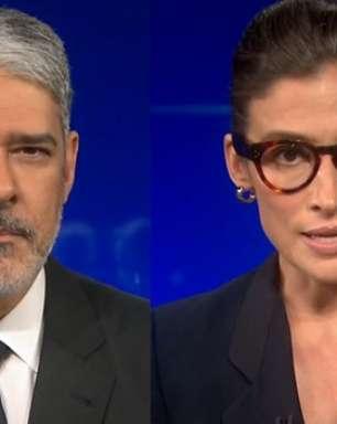 500 mil mortos da Covid: JN começa sem trilha sonora e com Bonner e Renata de preto