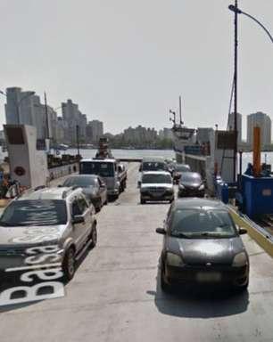Navio colide em estação de balsas no Porto de Santos