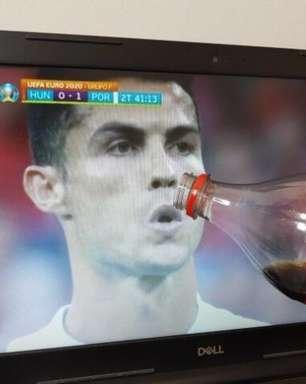 Gesto de Cristiano Ronaldo com refrigerante rende memes na web