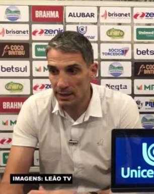 """FORTALEZA: Vojvoda analisa positivamente partida da equipe contra o Fluminense e minimiza empate: """"Criamos mais, mas futebol é assim"""""""