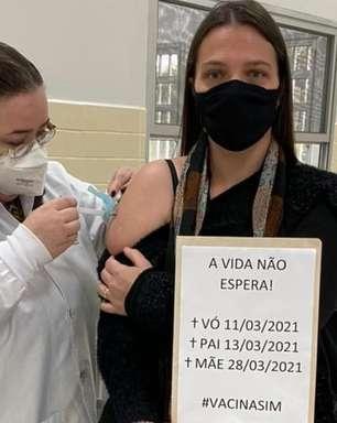 'Saudade é diária e infinita': a professora que comoveu as redes lembrando parentes mortos ao ser vacinada