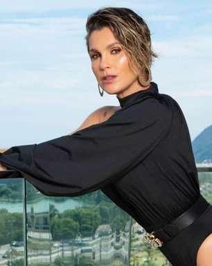 Flavia Alessandra surge radiante em dia de sol