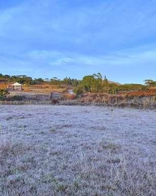 Serra Catarinense tem novo amanhecer gelado e com geada