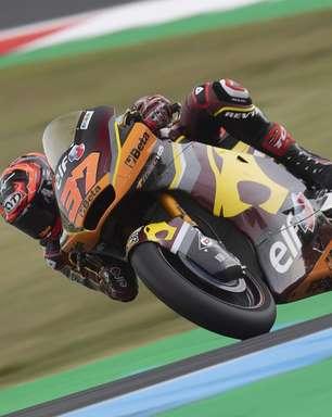 Augusto Fernández lidera único treino com pista seca e ponteia dia 1 da Moto2 em Assen