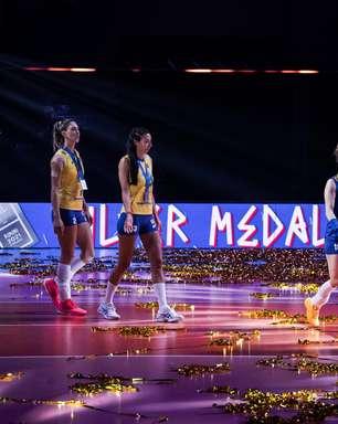 Seleção feminina de vôlei perde e é vice na Liga das Nações