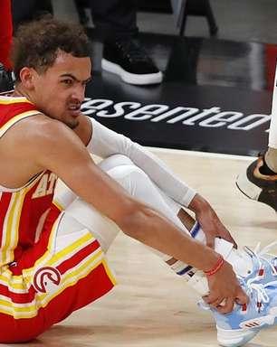 Trae Young sofre lesão no tornozelo e preocupa Hawks