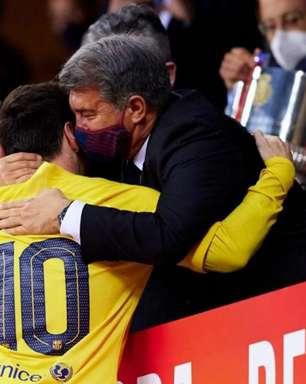 Presidente do Barcelona se diz tranquilo quanto a renovação de Messi