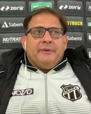 """CEARÁ: Guto Ferreira reconhece desejo pela vitória contra o Bragantino mas comemora um ponto conquistado e sequência de quatro jogos sem perder: """"Fortalece a confiança"""""""
