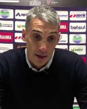 FORTALEZA: Vojvoda cita falta de concentração nos primeiros minutos que culminaram na derrota para o Athletico-PR