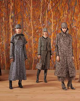 Dior se inspira na tapeçaria em volta do desfile ao vivo