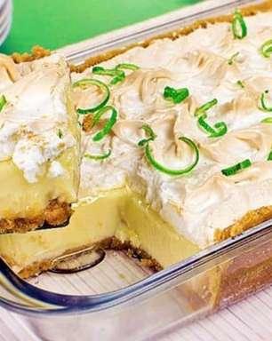 Receita de torta-mousse de limão deliciosa