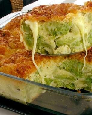 Receita de torta cremosa de brócolis deliciosa