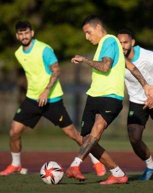 Seleção Brasileira faz treino tático visando a estreia nos Jogos Olímpicos contra a Alemanha