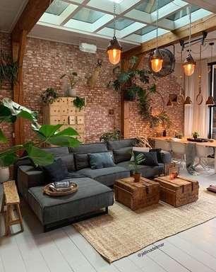 Sofá Estilo Industrial: +60 Ideias Incríveis para sua Sala Perfeita