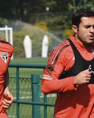 Luciano e Eder fazem trabalhos de fisioterapia e se aproximam de retorno aos gramados