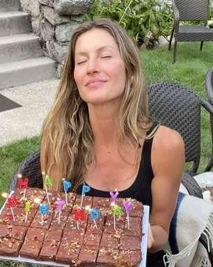 Gisele Bündchen comemora aniversário em meio à natureza