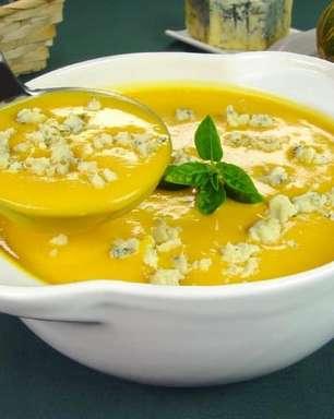 Receita de sopa-creme de abóbora com gorgonzola