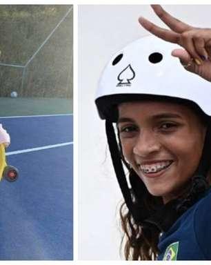 Tatá Werneck publica foto da filha com skate para homenagear equipe feminina em Olimpíada