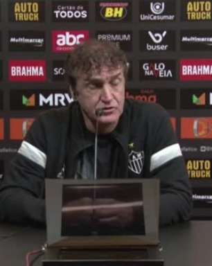 """ATLÉTICO-MG: Cuca exalta sequência de 9 jogos sem perder após vitória sobre o Bahia pela Copa do Brasil: """"Ótimo"""""""