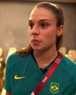 SELEÇÃO FEMININA: Giovana relata emoção em estreia nos Jogos Olímpicos