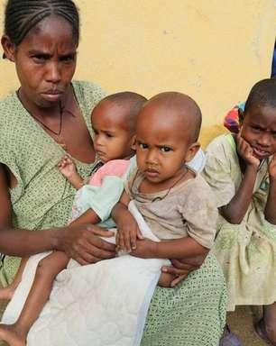 Mais de 100.000 crianças na Etiópia correm risco de morte por desnutrição, diz Unicef