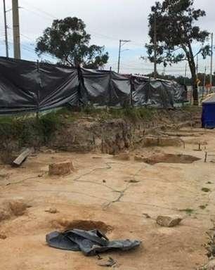 Túmulos com vestígios pré-hispânicos encontrados durante obras em Bogotá