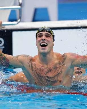Bruno Fratus conquista a medalha de bronze nos 50m livre em Tóquio