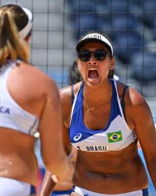 Vôlei de praia: Ana Patrícia e Rebecca vencem chinesas e avançam às quartas de final