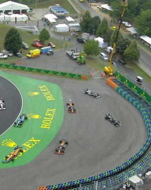 Bottas erra freada e gera big-one envolvendo carros da Red Bull na largada na Hungria