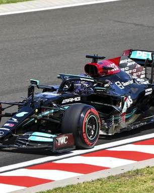 """3º, Hamilton lamenta erro da Mercedes na estratégia: """"Fizemos tudo ficar mais difícil"""""""