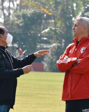 De olho na Copa do Brasil, elenco do São Paulo se reapresenta; Muricy e Crespo conversam