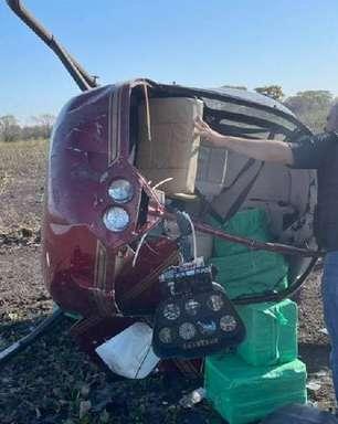 Helicóptero com 278 quilos de cocaína cai na região do Pantanal, em Mato Grosso