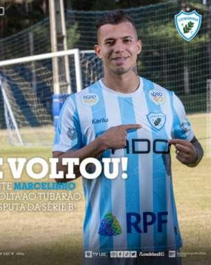 Marcelinho retorna ao Londrina e quer grande segundo semestre pelo Tubarão na Série B