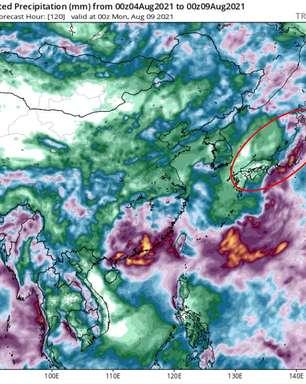Tempestade tropical pode atingir Tóquio no final das Olimpíadas