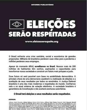 Bolsonaro ignora manifesto de empresários por eleições